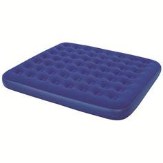 Матрас надувной Bestway, флокированный, цвет: синий, 203 х 183 х 22 см. 67004