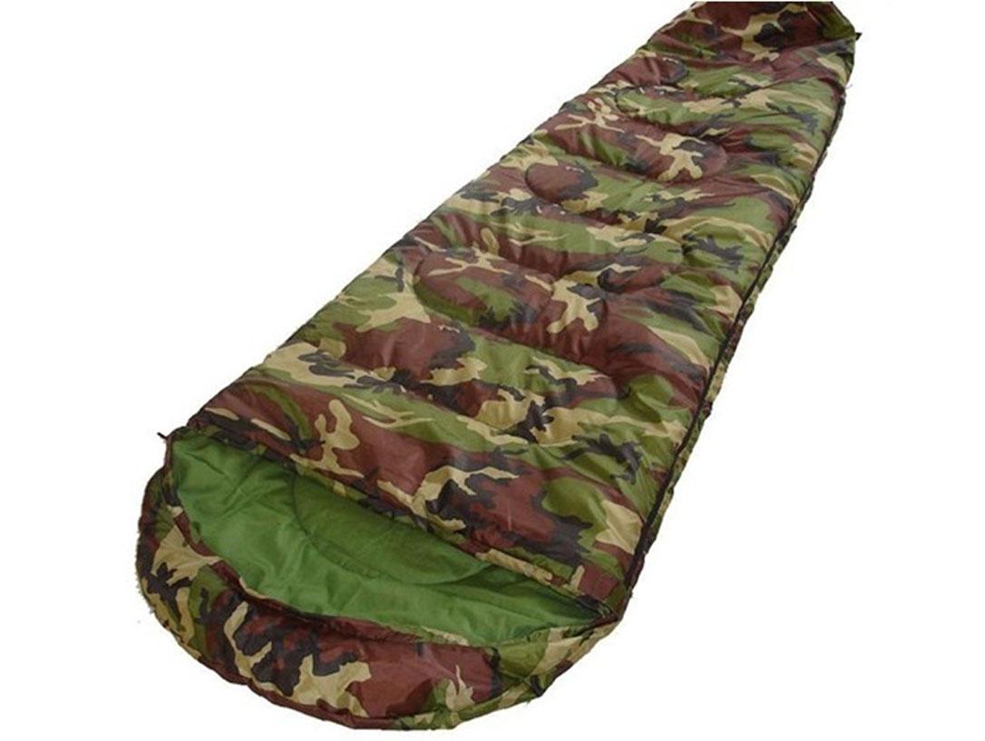 Спальный мешок-кокон Reking, цвет: камуфляж, 190 х 75 см. S-007S-007Спальный мешок-кокон Reking - незаменимая вещь для любителей уюта и комфорта во время активного отдыха. Теплый спальный мешок спасет вас от холода во время туристического похода или поездки на рыбалку. Верхний слой мешка-одеяла выполнен из прочного полиэстера. В качестве наполнителя использован поликотон. Спальный мешок закрывается на застежку-молнию. Спальный мешок упакован в удобный компрессионный чехол для переноски.