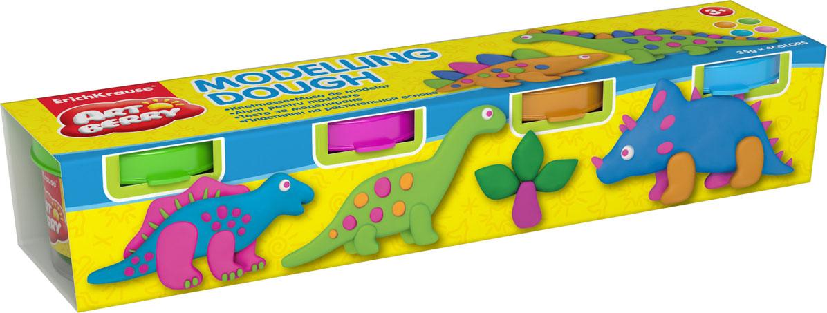 Пластилин на растительной основе Modelling Dough №2, 4 цвета, 35 г32712Пластилин на растительной основе Modelling Dough - увлекательная игрушка, развивающая у ребенка мелкую моторику рук, воображение и творческое мышление. Пластилин легко разминается, не липнет к рукам и рабочей поверхности, не пачкает одежду. Цвета смешиваются между собой, образуя новые оттенки. Пластилин застывает на открытом воздухе через 24 часа. Набор содержит пластилин 4 цвета (оранжевый, голубой, салатовый, розовый). Пластилин каждого цвета хранится в отдельной пластиковой баночке. С пластилином на растительной основе Modelling Dough ваш ребенок будет часами занят игрой.