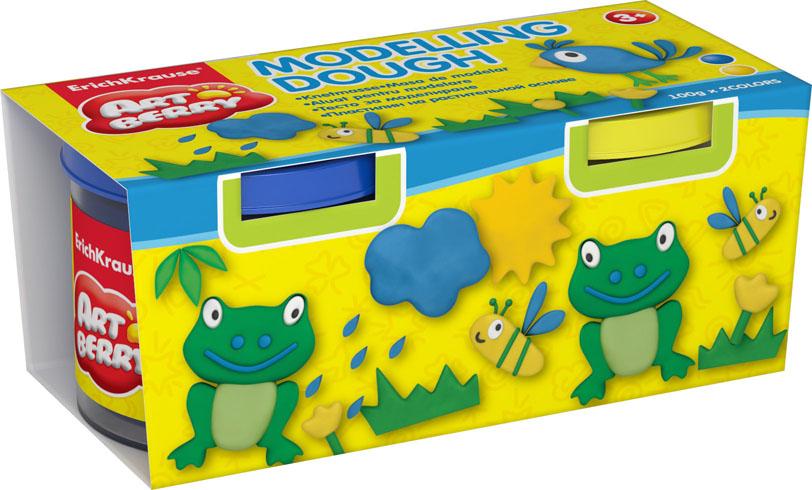 Пластилин на растительной основе Modelling Dough, 2 цвета, 100 г32716Пластилин на растительной основе Modelling Dough - увлекательная игрушка, развивающая у ребенка мелкую моторику рук, воображение и творческое мышление. Пластилин легко разминается, не липнет к рукам и рабочей поверхности, не пачкает одежду. Цвета смешиваются между собой, образуя новые оттенки. Пластилин застывает на открытом воздухе через 24 часа. Набор содержит пластилин 2 цветов (желтый, синий). Пластилин каждого цвета хранится в отдельной пластиковой баночке. С пластилином на растительной основе Modelling Dough ваш ребенок будет часами занят игрой.