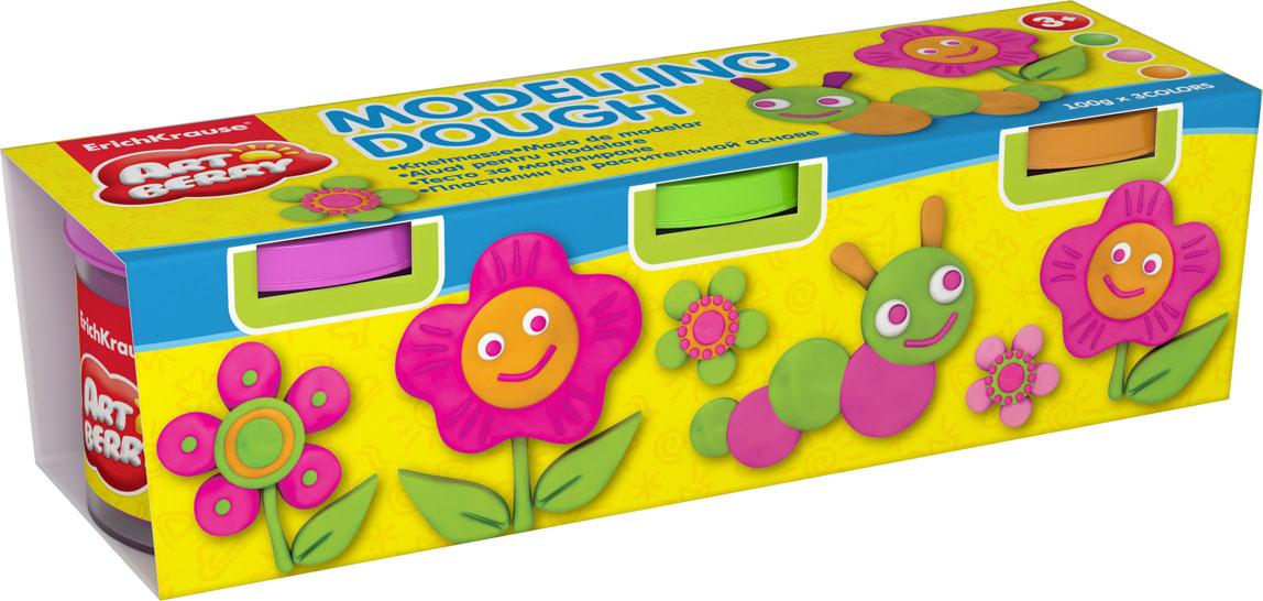 Пластилин на растительной основе Modelling Dough №2, 3 цвета, 100 г32719Пластилин на растительной основе Modelling Dough - увлекательная игрушка, развивающая у ребенка мелкую моторику рук, воображение и творческое мышление. Пластилин легко разминается, не липнет к рукам и рабочей поверхности, не пачкает одежду. Цвета смешиваются между собой, образуя новые оттенки. Пластилин застывает на открытом воздухе через 24 часа. Набор содержит пластилин 3 цвета (салатовый, розовый, оранжевый). Пластилин каждого цвета хранится в отдельной пластиковой баночке. С пластилином на растительной основе Modelling Dough ваш ребенок будет часами занят игрой.