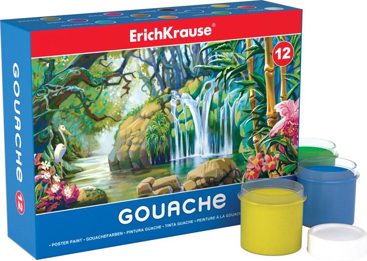 """Гуашь """"Erich Krause"""", 12 цветов. 35161"""