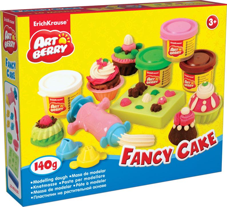 """Erich Krause Пластилин на растительной основе """"Fancy Cake"""", 4 цвета, 35 г"""