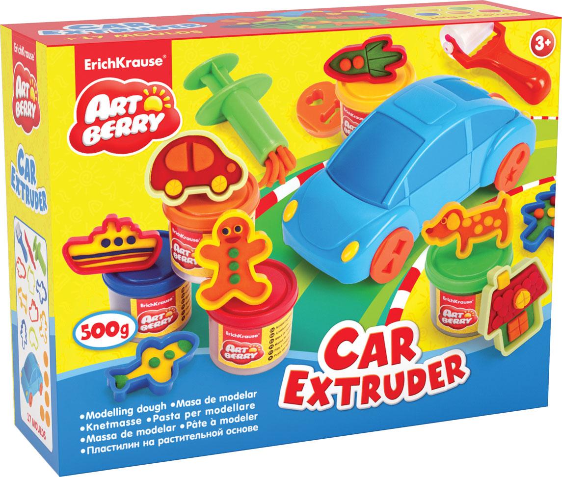 Пластилин на растительной основе Car Extruder, 5 цветов, 100 г35633Пластилин на растительной основе Car Extruder - увлекательная игрушка, развивающая у ребенка мелкую моторику рук, воображение и творческое мышление. Пластилин легко разминается, не липнет к рукам и рабочей поверхности, не пачкает одежду. Цвета смешиваются между собой, образуя новые оттенки. Набор содержит пластилин 5 цветов (желтый, зеленый, синий, оранжевый, красный), машинка-экструдер, 5 фигурных насадок-колес, скалка, стек, 8 формочек для лепки, шприц. Пластилин каждого цвета хранится в отдельной пластиковой баночке. С пластилином на растительной основе Car Extruder ваш ребенок будет часами занят игрой.