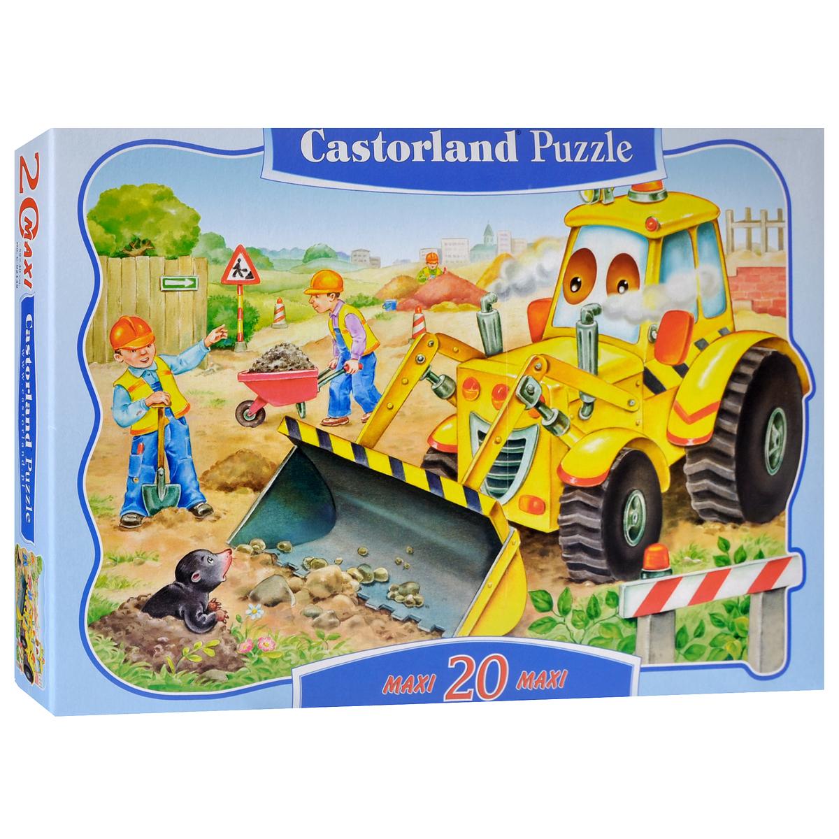 Castorland Пазл для малышей БульдозерС-02139Пазл Бульдозер, без сомнения, придется по душе вашему ребенку. Собрав этот пазл, включающий в себя 20 крупных элементов, он получит яркую картинку с изображением веселого бульдозера, а также строителей. Пазлы - прекрасное антистрессовое средство для взрослых и замечательная развивающая игра для детей. Собирание пазла развивает у ребенка мелкую моторику рук, тренирует наблюдательность, логическое мышление, знакомит с окружающим миром, с цветом и разнообразными формами, учит усидчивости и терпению, аккуратности и вниманию. Собирание пазла - прекрасное времяпрепровождение для всей семьи.