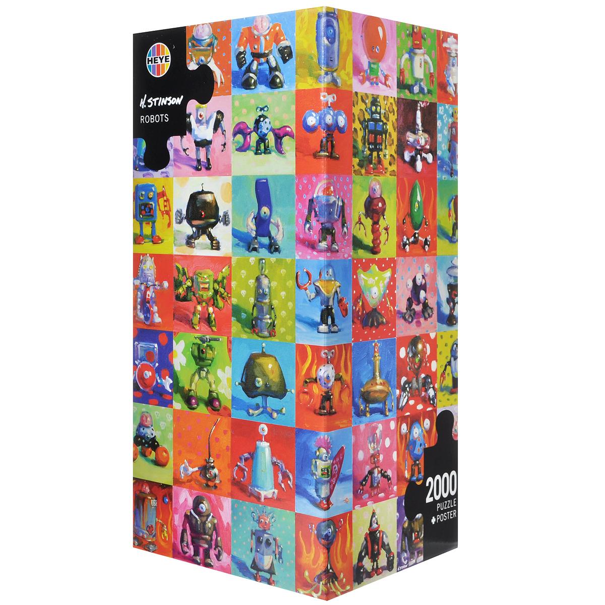 H. Stinson Роботы. Пазл, 2000 элементов29576Пазл Роботы, без сомнения, придется по душе вам и вашему ребенку. Собрав этот пазл, включающий в себя 20000 элементов, вы получите яркую цветную иллюстрацию автора H. Stinson, на которой изображены различные оригинальные роботы. В комплект входит постер. Пазлы - прекрасное антистрессовое средство для взрослых и замечательная развивающая игра для детей. Собирание пазла развивает у ребенка мелкую моторику рук, тренирует наблюдательность, логическое мышление, знакомит с окружающим миром, с цветом и разнообразными формами, учит усидчивости и терпению, аккуратности и вниманию. Собирание пазла - прекрасное времяпрепровождение для всей семьи.