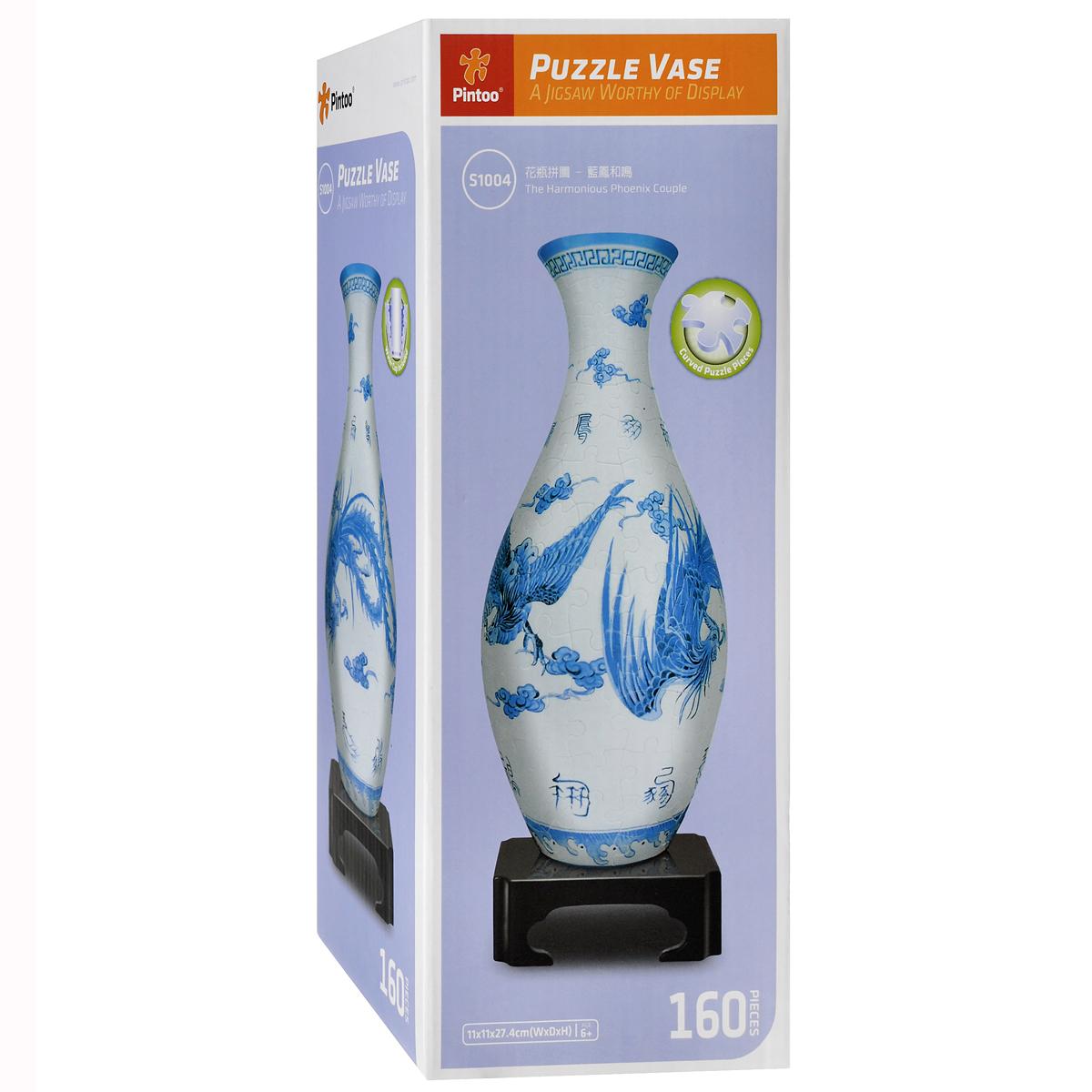 Ваза Гармоничная пара. Объемный 3D-пазл, 160 элементовS1004Объемный 3D-пазл Ваза «Гармоничная пара» - прекрасный способ провести время увлекательно и с пользой. Комплект включает в себя 160 пластиковых элементов пазла, из которых вы сможете собрать оригинальную вазу для цветов, а также горлышко, дно и подставка для вазы и емкость для воды. Элементы пазла плотно фиксируются одна с другой без клея и образуют прочную конструкцию. Внутрь вазы помещается колба (емкость для воды), в которую можно налить воду и поставить живые цветы. Пазл - великолепная игра для семейного досуга, захватывающая и взрослых и детей. Сегодня собирание пазлов стало особенно популярным, главным образом, благодаря своей многообразной тематике, способной удовлетворить самый взыскательный вкус. Всегда приятно находиться в кругу семьи или друзей и собирать из разрозненных кусочков увлекательные сюжеты.