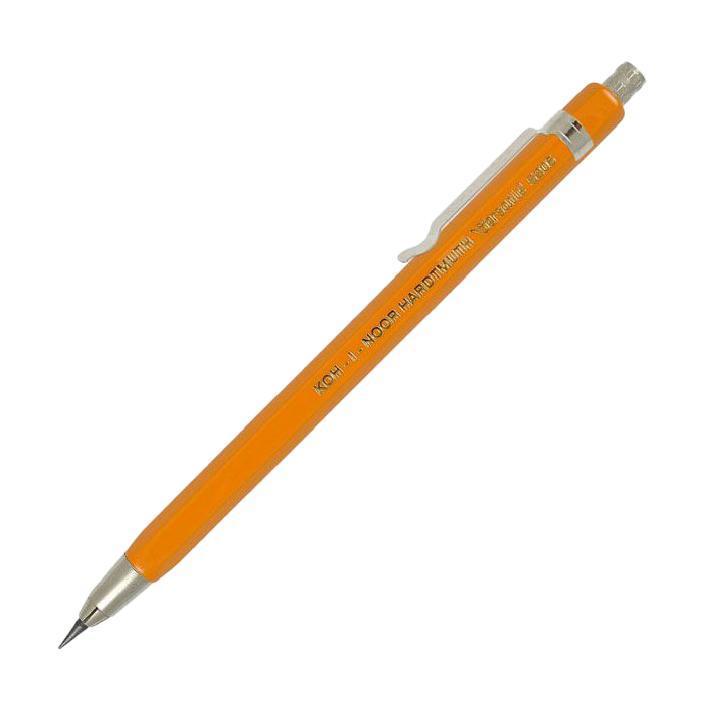 Карандаш цанговый Koh-i-Noor, цвет: желтый5205NЦанговый (механический) карандаш Koh-i-Noor - незаменимый атрибут современного делового человека дома и в офисе. Корпус карандаша стильной шестигранной формы с металлическим клипом и наконечником выполнен из высококачественного пластика с металлизированным покрытием. Карандаш заправлен грифелем, который подается автоматически при нажатии на кнопку.