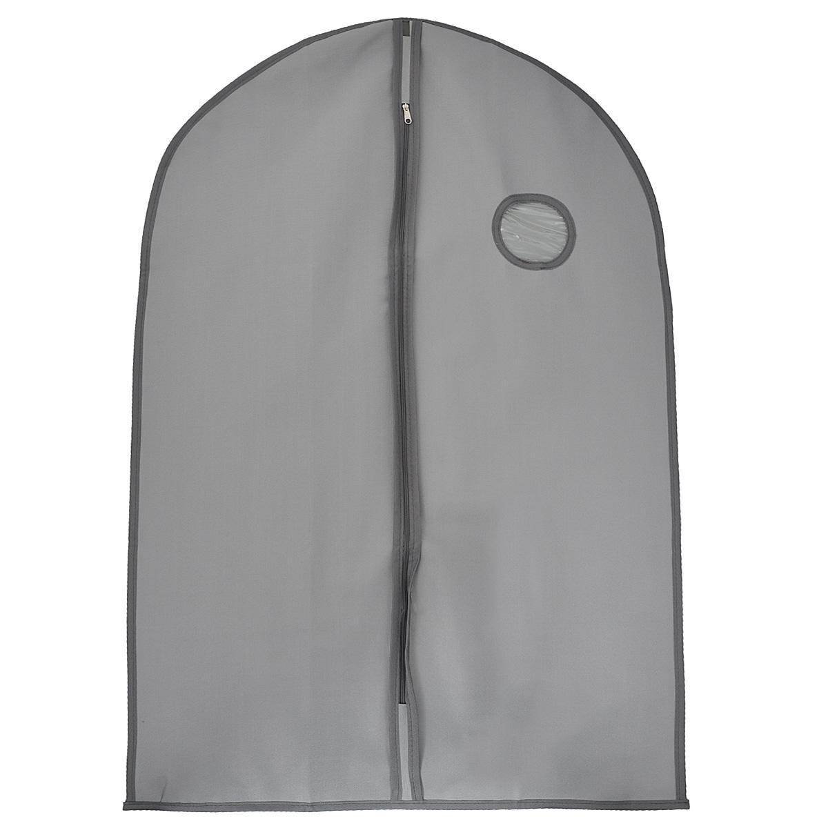 Чехол для одежды FS-6502S-P, цвет: темно-серый, 60 см х 90 смFS-6502S-PЧехол для одежды FS-6502S-P изготовлен из высококачественного нетканого материала. Особое строение полотна создает естественную вентиляцию: материал дышит и позволяет воздуху свободно проникать внутрь чехла, не пропуская пыль. Благодаря форме чехла, одежда не мнется даже при длительном хранении. Застегивается на молнию. Окошко из пластика позволяет увидеть, какие вещи находятся внутри. Чехол для одежды будет очень полезен при транспортировке вещей на близкие и дальние расстояния, при длительном хранении сезонной одежды, а также при ежедневном хранении вещей из деликатных тканей. Чехол для одежды FS-6502S-P не только защитит ваши вещи от пыли и влаги, но и поможет доставить одежду на любое мероприятие в идеальном состоянии.