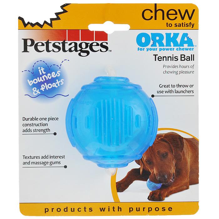 Игрушка для собак Petstages Orka. Теннисный мяч235REXИгрушка для собак Petstages Orka. Теннисный мяч имеет специальную форму, которая способствует тренировке жевательных мышц и массажу десен. Изготовлена из синтетической резины. Этот материал настолько безопасен, что из него делают детские прорезыватели для зубов. Это долговечная игрушка для профилактики заболеваний полости рта. Использование игрушки одобрено ветеринарами. Диаметр мяча: 7 см.