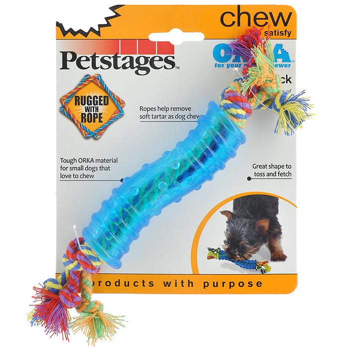 Игрушка для собак Petstages Mini Orka. Палочка236REXИгрушка для собак Petstages Mini Orka. Палочка предназначена для собак мелких пород. Игрушка имеет специальную форму, которая способствует тренировке жевательных мышц и массажу десен. Изготовлена из синтетической резины. Этот материал настолько безопасен, что из него делают детские прорезыватели для зубов. Хлопковые канатики удаляют зубной налет, что способствует здоровью полости рта. Использование игрушки одобрено ветеринарами. Длина игрушки (с канатиками): 21 см.