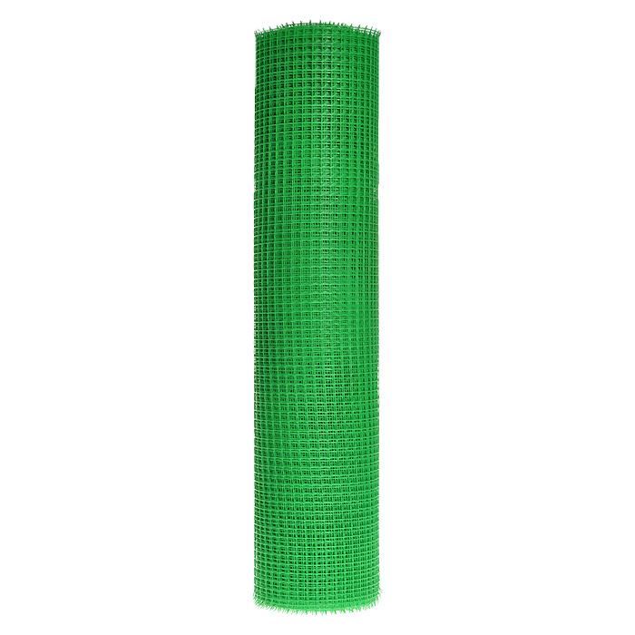 Решетка садовая FIT, цвет: зеленый, длина 20 м77476Садовая решетка FIT изготовлена из пластика зеленого цвета. Оснащена мелкими квадратными ячейками размером 1,5 см х 1,5 см. Предназначена для организации различных ограждений на садовом участке.