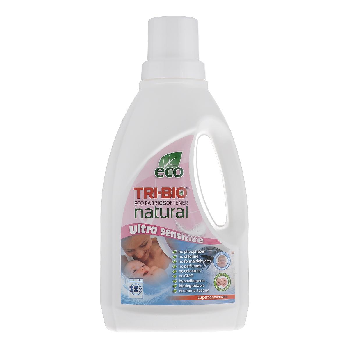 Натуральный кондиционер-смягчитель для белья Tri-Bio, 940 мл0340Эффективная ультра-нежная формула основана на био-энзимах и натуральных растительных и минеральных компонентах. Суперконцентрат расчитан на 32 стирки. Безопасная альтернатива химическим аналогам. Формула кондиционера - смягчителя достаточно нежная для чувствительной детской кожи. Идеально подходит для детского белья и людей с чувствительной кожей. Не содержит ароматов и красителей, рекомендуются для людей, склонных к аллергиям и астме. Для здоровья: Не содержит жесткие химические вещества, токсические вещества, агрессивные абразивные вещества, агрессивные растворители, хлор отбеливающих веществ, фосфаты, нонилфенолы, красители и ароматизаторы, гипоаллергенно. Для окружающей среды: Низкий уровень ЛОС, легко биоразлагаемо, минимальное влияние на водные организмы, рециклируемые упаковочные материалы, не испытывалось на животных. Присвоен сертификат ECO GREEN.