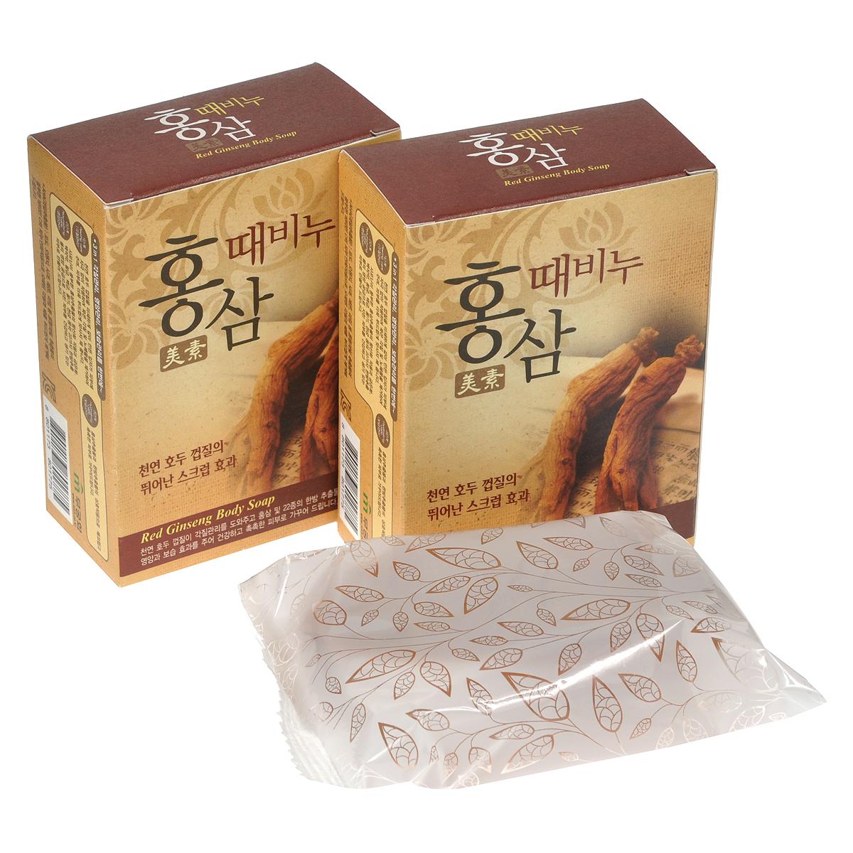Mukunghwa Косметическое мыло-скраб Красный женьшень, 3 х 100 гУТ000000708Скорлупа грецкого ореха оказывает пилинговый эффект на кожу. 22 растительных экстракта, в том числе экстракт красного женьшеня, превосходно питают и увлажняют кожу. Способ применения : массирующими движениями нанесите мыло-скраб на кожу, после чего тщательно смойте обильным количеством воды.