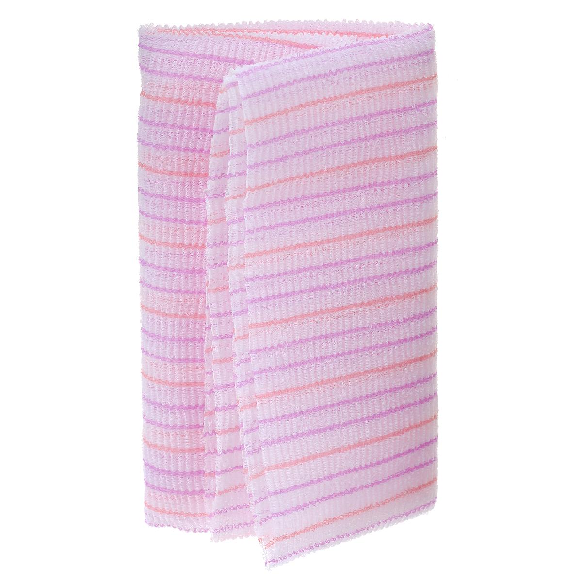 SungBo Мочалка для душа Clean&Beauty Fresh, цвет: розовый, 28 см х 100 см, 1 штУТ000000670Благодаря оригинальной вязке из гофрированного волокна мочалка создает одновременно ощущение мягкости так и ощущение пилинга, нежно отшелушивая огрубевшую кожу. Шероховатая текстура стимулирует циркуляцию крови по всему телу и помогает сохранить здоровье и упругость кожи. Мочалка позволяет получать обильную пену, используя небольшое количество геля для душа. Ее легко мыть, и она быстро сохнет. Высококачественное волокно обеспечивает долговечность мочалки.