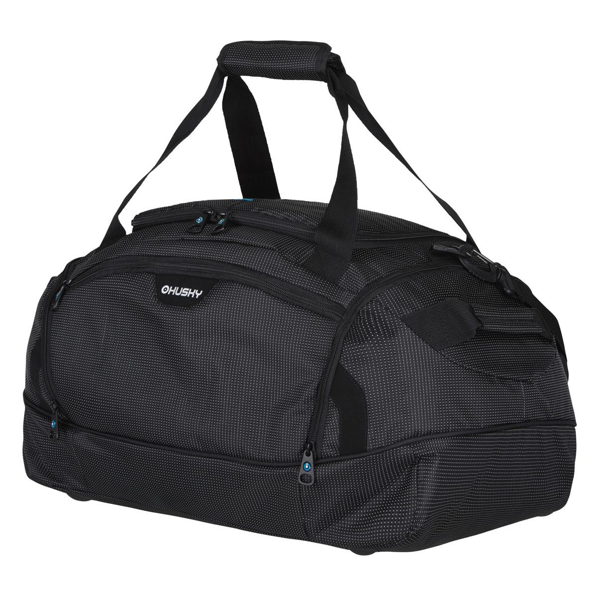 Сумка спортивная Husky Grape 80 L, цвет: черныйУТ-000048762Комфортная и практичная спортивная сумка Grape 80 L. Особенности модели: Водонепроницаемая ткань, Два боковых кармана, Внутренний органайзер, Съемный наплечный ремень.