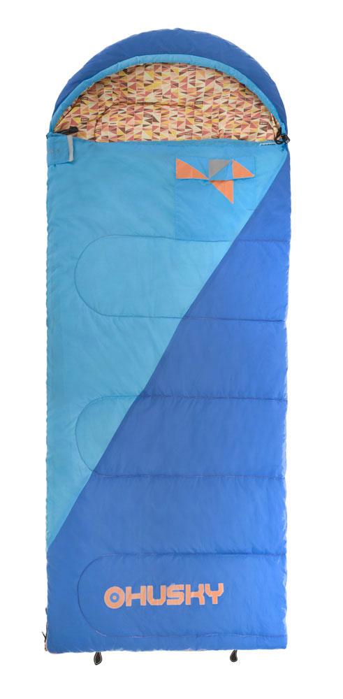 Спальный мешок-одеяло Husky Kids Milen, левосторонняя молния, цвет: голубойУТ-000057581Новый спальный мешок спроектирован для юных туристов. Этот спальник очень просторный и удовлетворит запросы ребенка, которому не нравятся спальники формы кокон. В этом спальнике вы найдете все характерные детали спальников Husky, как внутренний и внешний карманы, светоотражающие элементы, компрессионный мешок и уникальный дизайн в стиле Husky. Внутренний материал: полиэстер. - Внешний материал: 70D 190Т нейлон Taffeta. Утеплитель: волокно Hollowfibre 2 слоя по 150 гр/м2.