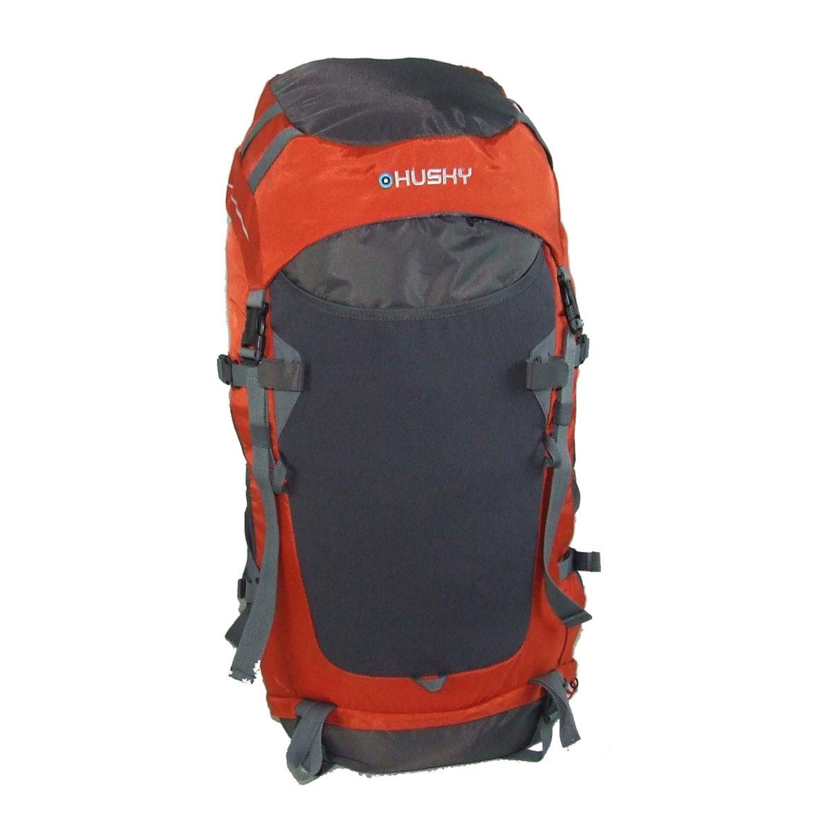 Рюкзак туристический Husky Rony 50, цвет: оранжевыйУТ-000057591Рюкзак туристический Husky Rony 50 станет Вашим незаменимым спутником во время путешествий, отдыха на свежем воздухе или занятий спортом. Вместительное внутреннее отделение, множество внешних карманов вместят все необходимо снаряжение, при этом вес рюкзака равномерно распределяется на вашу спину и плечи благодаря спинке анатомической формы с ребрами жесткости. Удобные плечевые лямки и поясной ремень надежно зафиксируют рюкзак на спине во время сложного похода. Особенности: два отделения с боковым входом, водонепроницаемая легкая ткань, жесткая спина из пластика EVA, дюралюминиевые вставки, боковые карманы-сетки, держатели для палок, ледоруба, регулируемая крышка-карман, накидка от дождя, молнии YKK, система вентиляции спины ETS, место для гидратора, светоотражающие элементы, материал: Нейлон 420D 100T, нейлон RipStop 200D W/P.