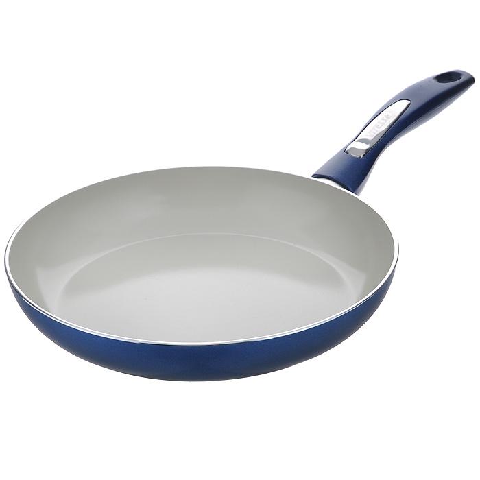 Сковорода Vitesse Le Grande, с керамическим покрытием, цвет: синий. Диаметр 26 см. VS-2249VS-2249