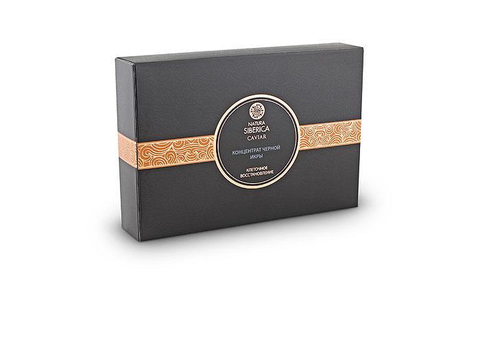 Natura Siberica Концентрат черной икры Caviar. Клеточное восстановление, 10 х 3 мл086-0-32857Концентрат черной икры Natura Siberica Caviar. Активатор молодости глубоко увлажняет, восстанавливает гладкость и упругость кожи. Экстракт черной икры, всемирно известный своими уникальными омолаживающими свойствами, насыщен протеинами и коллагеном, минералами и витаминами, благодаря чему эффективно предотвращает процесс старения, активизирует процессы восстановления клеток и выработки коллагена. Коллаген черной икры удерживают влагу на уровне эпидермиса, улучшая ее тонус и упругость. Эластин действует в паре с коллагеном, восстанавливая естественную структуру кожи, повышает ее эластичность и упругость. Активный комплекс пептидов Syn-Coll (содержание в сыворотке 3%) стимулирует синтез собственного коллагена клетками кожи и защищает его структуру от разрушения энзимами в дальнейшем. Высокая концентрация омега-3-6-7 и 9-кислот черной икры восстанавливает и питает клетки, повышает эластичность кожи, моделирует овал лица. Гиалуроновая кислота способствует...