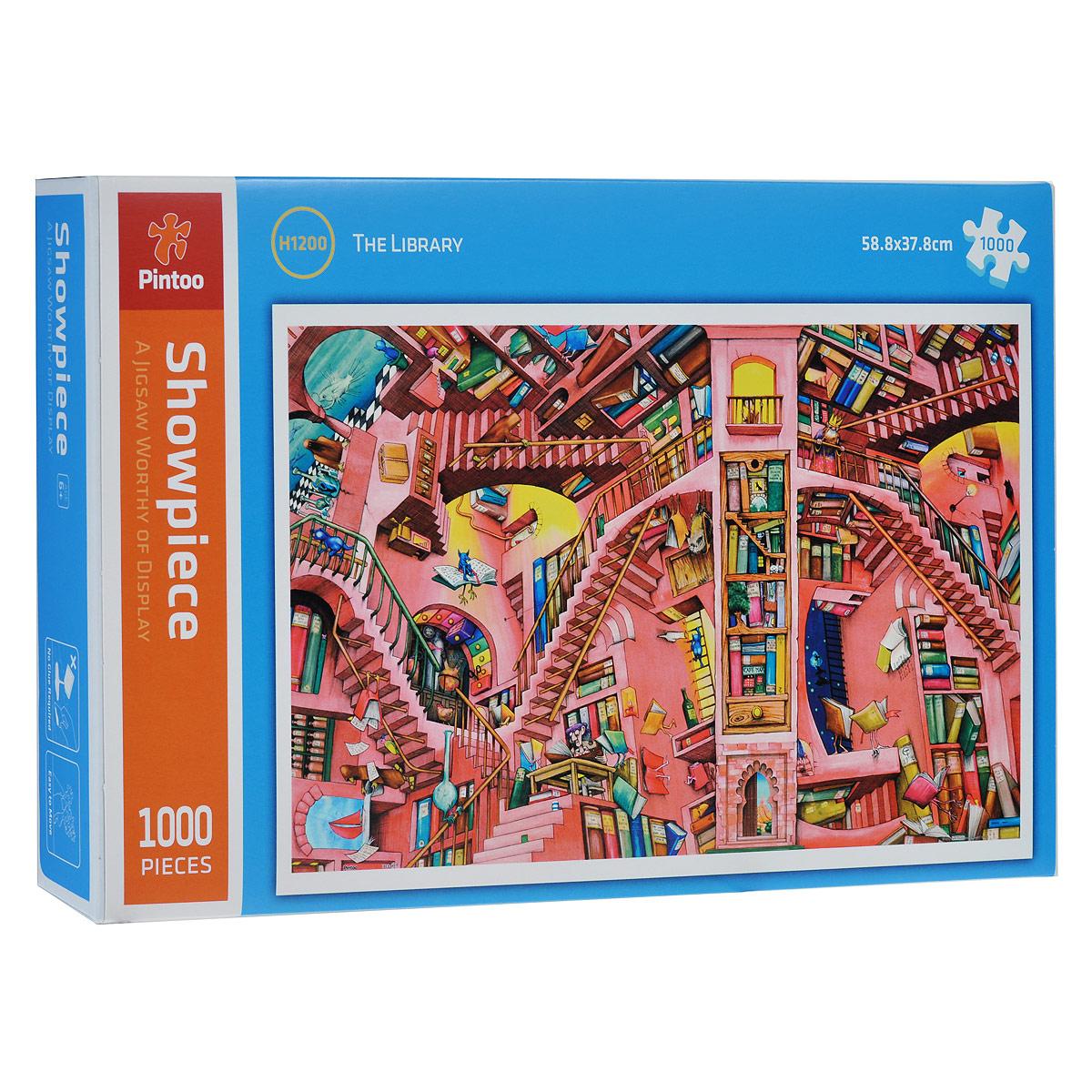 Библиотека (К. Томпсон). Пазл, 1000 элементовН1200Пазл Библиотека (К. Томпсон), без сомнения, придется вам по душе. Собрав этот пазл, включающий в себя 1000 элементов, вы получите великолепную репродукцию картины художника с очень богатым воображением Кейта (Кита) Томпсона «Библиотека». Его картины открывают фантастические, и даже сюрреалистические миры. Элементы пазла надежно скрепляются между собой, что клей не понадобится вообще. Стыки между деталями совершенно не видны. Пазл - великолепная игра для семейного досуга. Сегодня собирание пазлов стало особенно популярным, главным образом, благодаря своей многообразной тематике, способной удовлетворить самый взыскательный вкус. А для детей это не только интересно, но и полезно. Собирание пазла развивает мелкую моторику у ребенка, тренирует наблюдательность, логическое мышление, знакомит с окружающим миром, с цветом и разнообразными формами.