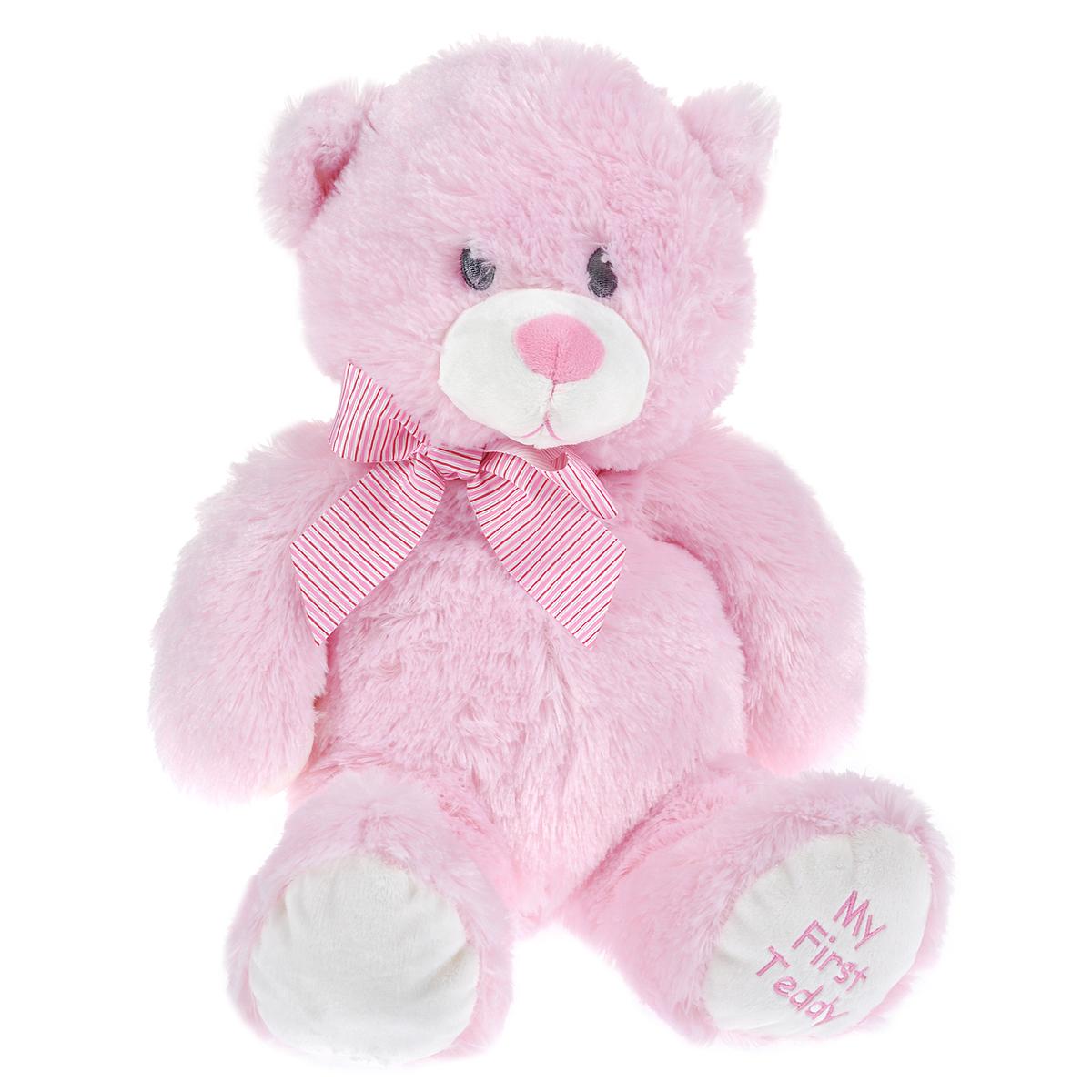 Beanie Boos Мягкая игрушка Медвежонок, цвет: розовый, 35 см53066Очаровательная мягкая игрушка The Classic Медвежонок, выполненная в виде медвежонка нежно-розового цвета с добрыми глазками вызовет умиление и улыбку у каждого, кто ее увидит. Медвежонок украшен большим бантом на шее, а на ножке имеется вышитая надпись My First Teddy. Удивительно мягкая игрушка принесет радость и подарит своему обладателю мгновения нежных объятий и приятных воспоминаний. Специальные гранулы, используемые при ее набивке, способствуют развитию мелкой моторики рук малыша. В качестве набивки используется синтепон. Великолепное качество исполнения делают эту игрушку чудесным подарком к любому празднику.