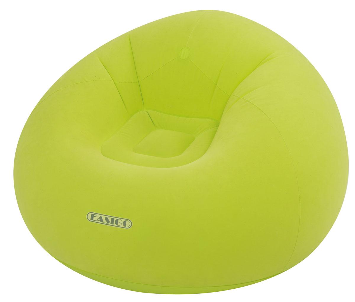 Кресло надувное Relax Easigo, цвет: салатовый, 105 х 105 х 65 смJL037222NКресло надувное Relax Easigo выполнено из высококачественного винила с велюровым покрытием. Отлично подойдет для использования дома или в офисе. Особенности кресла: - Водоотталкивающее флоковое покрытие. - Надежный клапан для быстрого сдувания и надувания. - Самоклеящаяся заплатка прилагается. Сдержанный дизайн, нейтральные цвета подходят к любому интерьеру и делают надувное кресло RELAX отличным выбором.