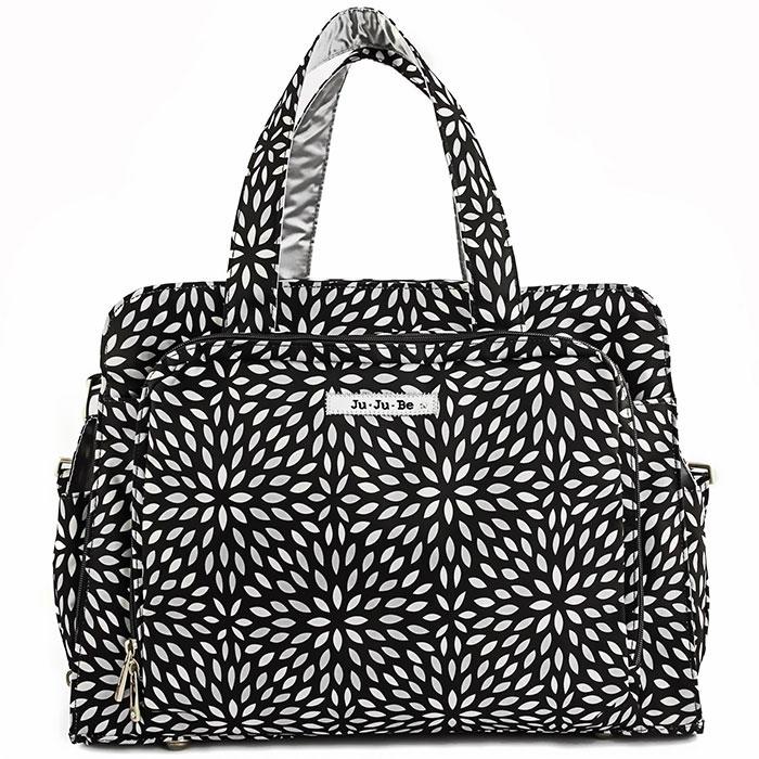 Ju-Ju-Be Дорожная сумка для мамы Platinum Petals цвет черный серебристый