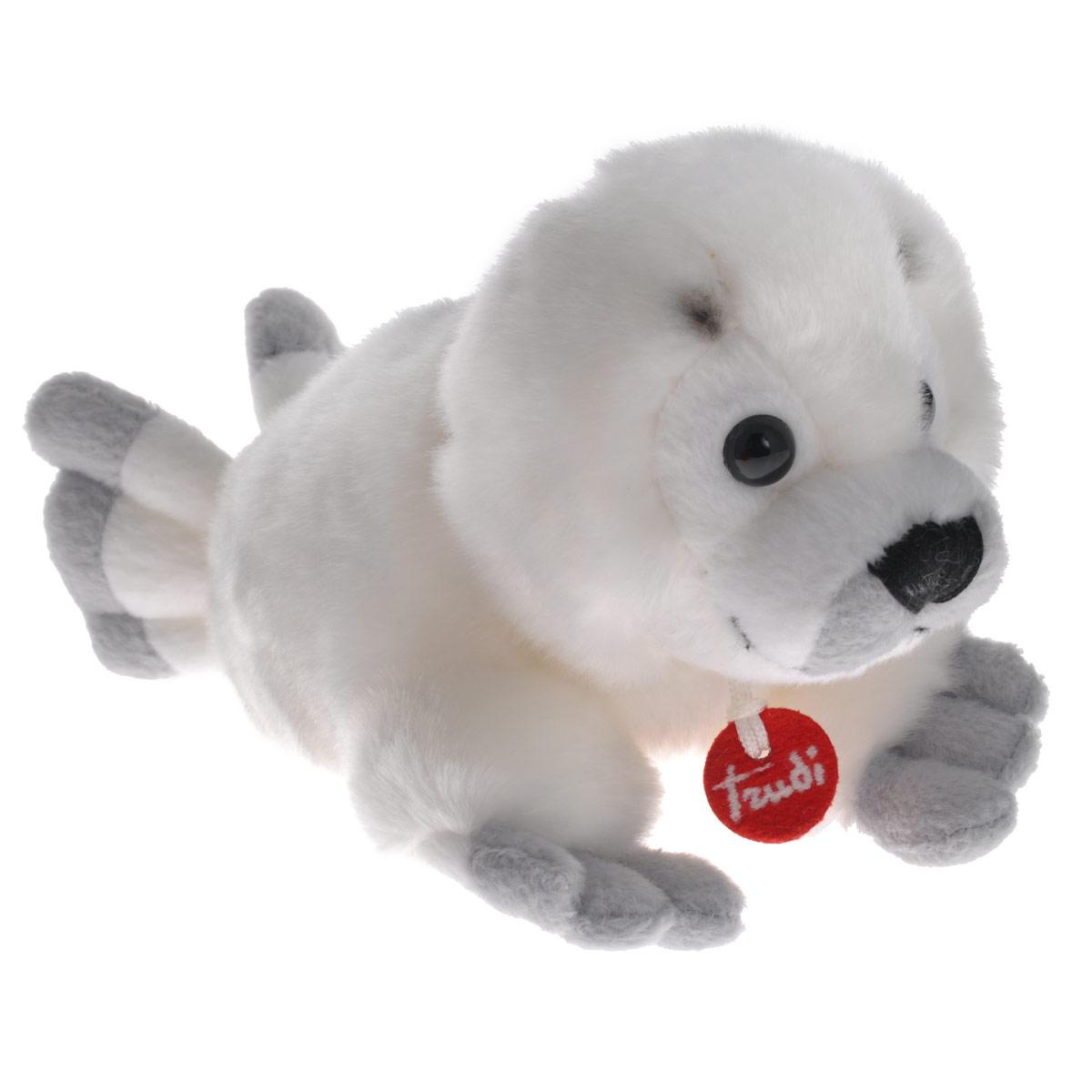 Мягкая игрушка Белый тюлень, цвет: белый, 10 см52189Очаровательная мягкая игрушка Белый тюлень вызовет умиление и улыбку у каждого, кто ее увидит. Игрушка выполнена в виде белоснежного тюленя с милой мордочкой, ясными глазками и смешными лапками. Она изготовлена из высококачественного, гипоаллергенного материала, не вызывающего раздражения на коже. Такая игрушка станет замечательным подарком, как ребенку, так и взрослому и украсит любой интерьер. Великолепное качество исполнения делают эту игрушку чудесным подарком к любому празднику.