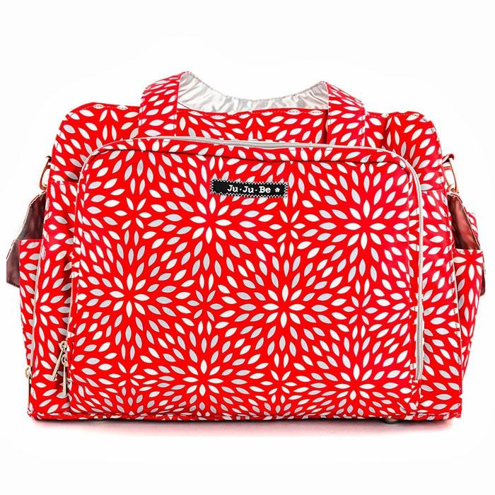 Ju-Ju-Be Дорожная сумка для мамы Scarlet Petals цвет красный серебристый