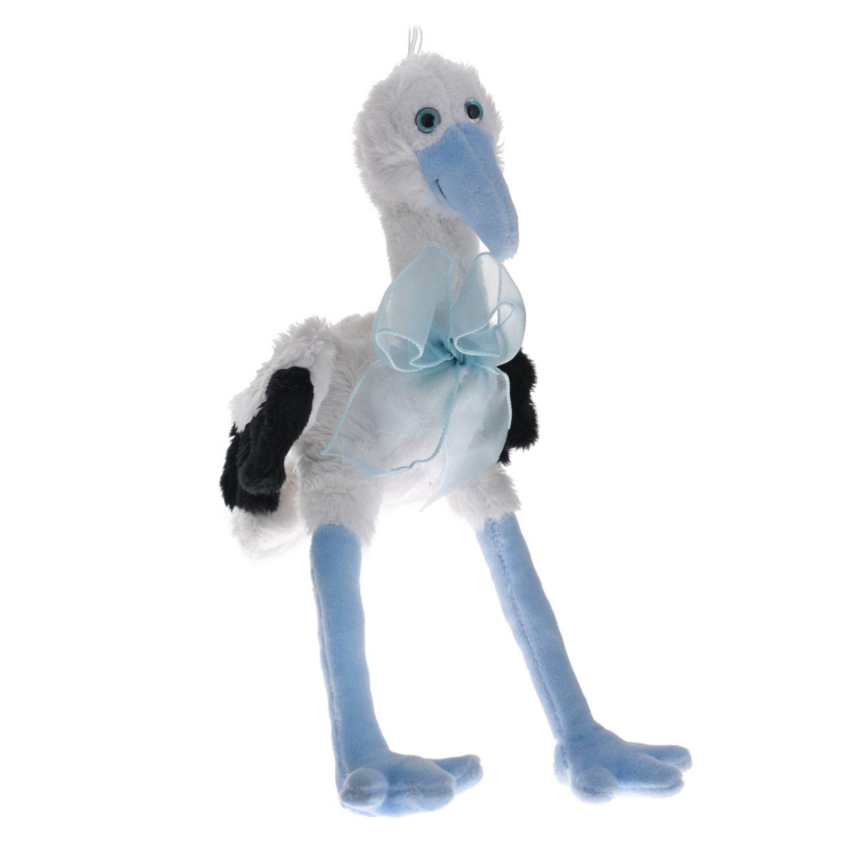 Мягкая игрушка Аист, цвет: белый, голубой, 17 см28060_blue/28060Очаровательная мягкая игрушка Аист вызовет умиление и улыбку у каждого, кто ее увидит. Игрушка выполнена в виде аиста белого и голубого цветов, украшенного большим бантом на шее. Среди достоинств этой игрушки не только внешний вид и приятная текстура, аист невероятно прочный. Такая игрушка станет замечательным подарком, как ребенку, так и взрослому и украсит любой интерьер. Великолепное качество исполнения делают эту игрушку чудесным подарком к любому празднику.