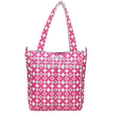 "Сумка для мамы Ju-Ju-Be ""BeLight Pink Pinwheels"", цвет: розовый, серый, белый - 1"