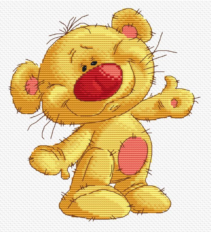 Набор для вышивания крестом Привет Медвед, 23 см х 24 см119-14 Привет МедведВ наборе для вышивания крестом Привет Медвед есть все необходимое для создания собственного чуда: канва, специальные нити, цветная схема рисунка, две иглы и инструкция по вышиванию. Красивый и стильный рисунок-вышивка, выполненный на канве, выглядит оригинально и всегда модно. Работа, сделанная своими руками, создаст особый уют и атмосферу в доме и долгие годы будет радовать вас и ваших близких. Работа, которая отвлечет вас от повседневных забот, и превратится в увлекательное занятие!