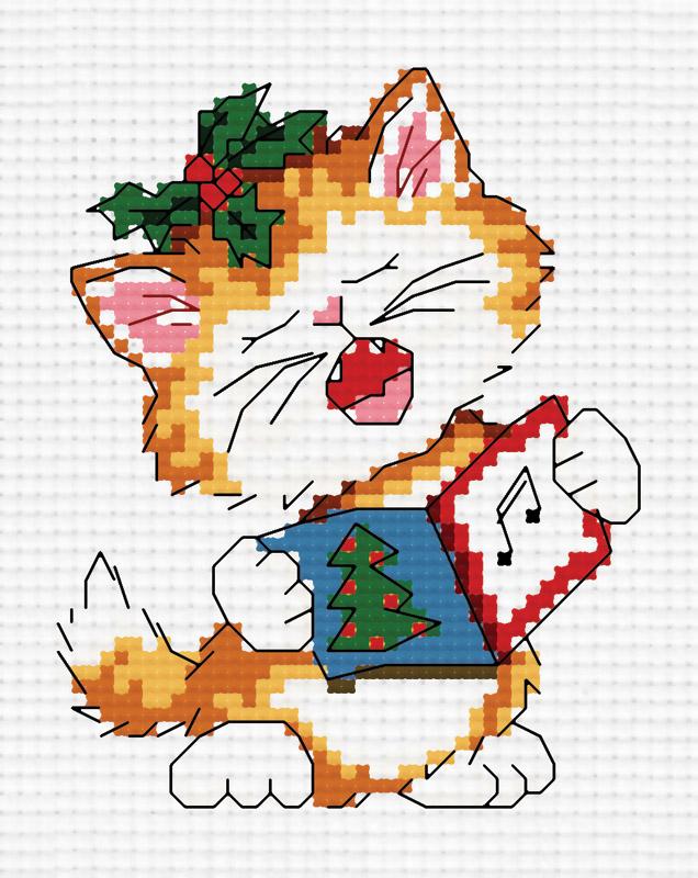 Набор для вышивания крестом Поющий котенок, 27 х 33 см851-14 Поющий котенокВ наборе для вышивания крестом Поющий котенок есть все необходимое для создания собственного чуда: канва, специальные нити, цветная схема рисунка, две иглы и инструкция по вышиванию. Красивый и стильный рисунок-вышивка, выполненный на канве, выглядит оригинально и всегда модно. Работа, сделанная своими руками, создаст особый уют и атмосферу в доме и долгие годы будет радовать вас и ваших близких. Работа, которая отвлечет вас от повседневных забот, и превратится в увлекательное занятие!
