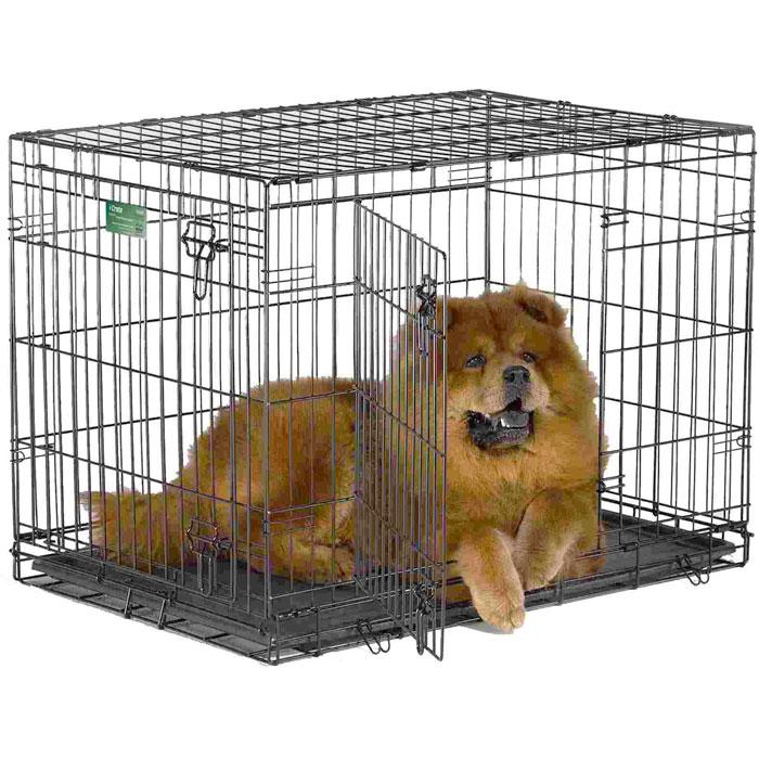 Клетка для собак Midwest iCrate, 2 двери, цвет: черный, 76 см х 48 см х 53 см1530DDДвухдверная клетка Midwest iCrate разработана специально для транспортировки средних и крупных собак. Закругленная угловая защита обеспечивает безопасность питомцам и людям. Клетка из нержавеющей стали оснащена: - двумя надежными дверками; - крепким замком, который закрывается снаружи и изнутри; - прочным пластиковым поддоном, который не повреждает поверхность, на которой размещается; - разделяющей панелью, обеспечивающей создание универсальных отсеков; - качественными ручками для переноски питомца. Размер клетки (ДхШхВ): 76 см х 48 см х 53 см. Вес конструкции: 8 кг. Товар сертифицирован.