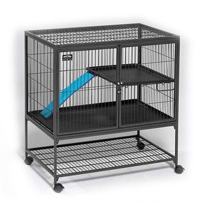Клетка для хорьков Midwest, 91,5 см х 63,5 см х 98 см181Компания Midwest представляет уникальную клетку для хорьков. Она обладает практичными размерами, крепкой дверью, которая открывается по всей высоте. Кроме того, в клетке предусмотрены пластиковые аксессуары, обеспечивающие безопасность животного, одно межэтажное перекрытие, полку и лестницу - для поддержания активного образа жизни хорька. Для большей устойчивости на клетке установлены 4 колеса, 2 из которых блокируются. Размер клетки (ДхШхВ): 91,5 см х 63,5 см х 98 см. Товар сертифицирован.