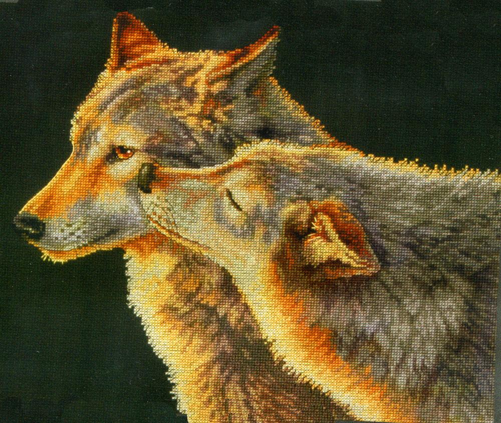 Набор для вышивания Dimensions Поцелуй волка, 35 см х 27 см149233