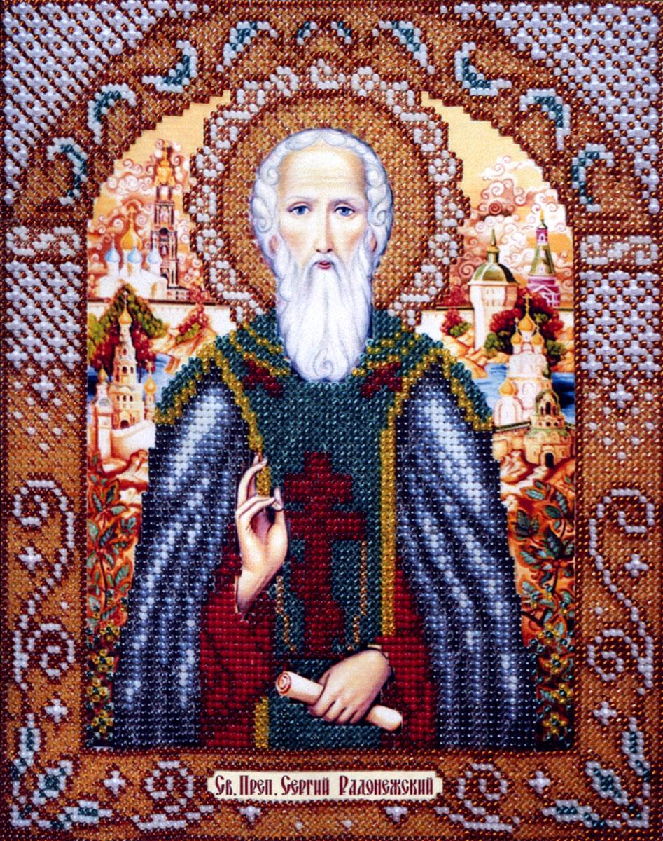 Набор для вышивания бисером Святой Преподобный Сергий Радонежский, 25 х 20 см Б1004280022