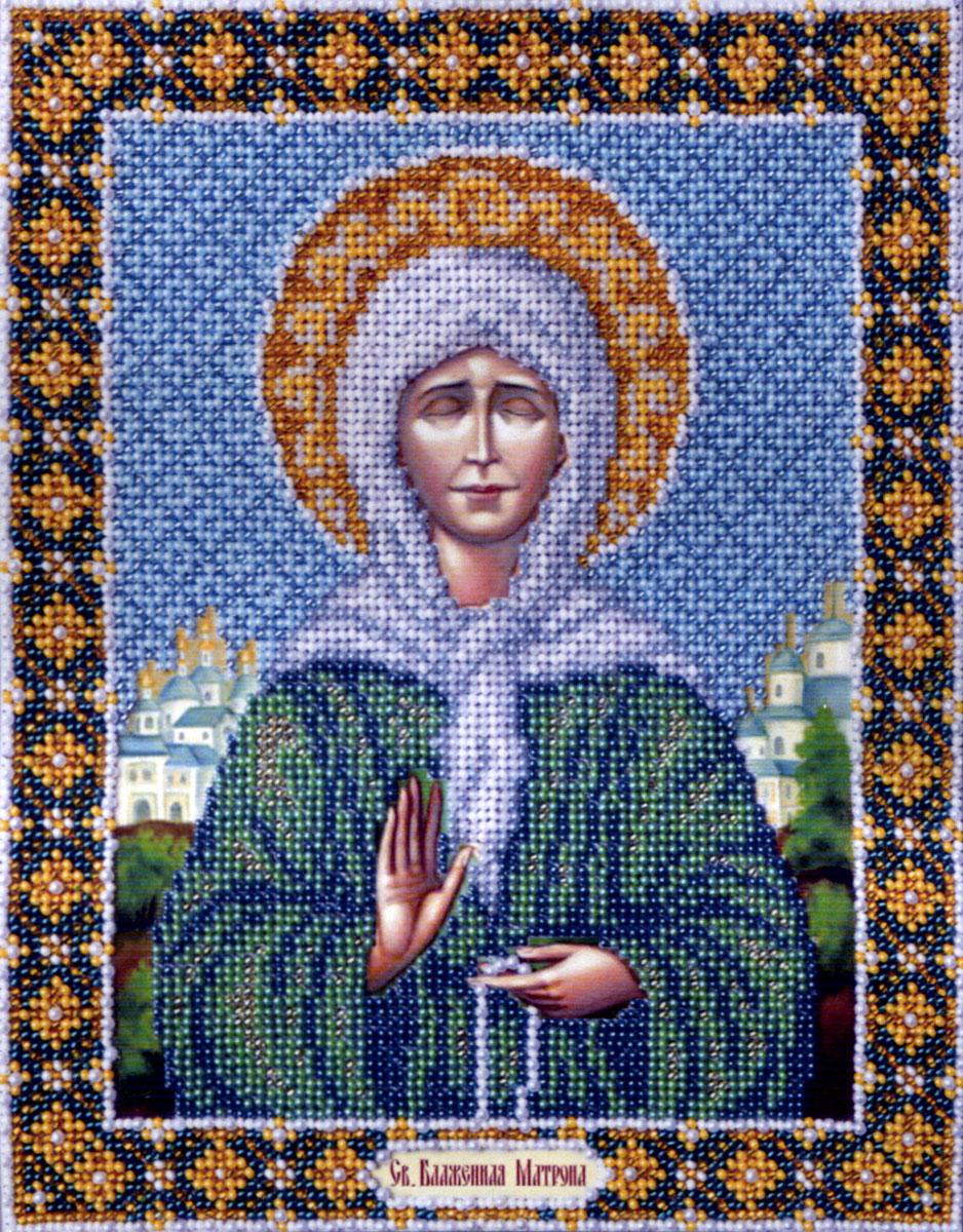 Набор для вышивания бисером Святая Блаженная Матрона Московская, 25 см х 20 см280029