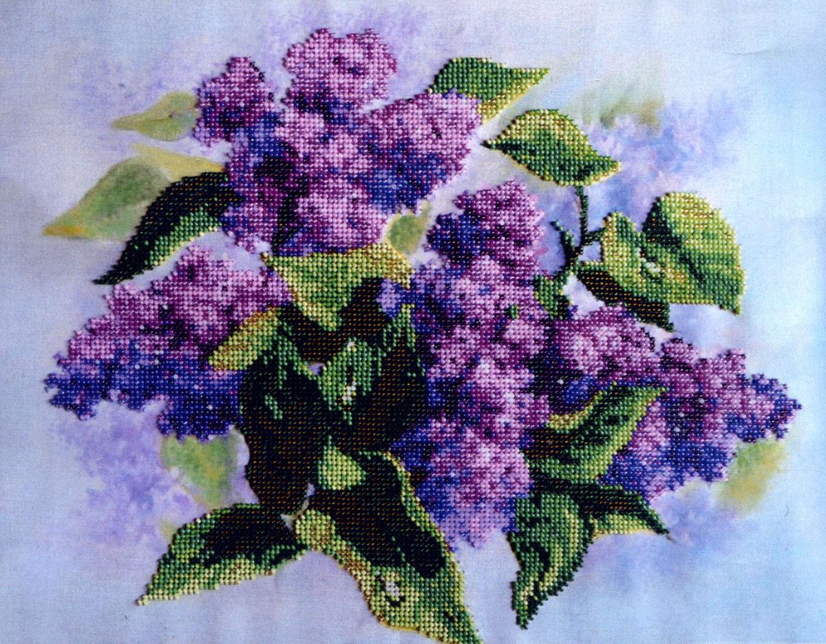 Набор для вышивания бисером Паутинка Сиреневый цвет, 29 х 36 см280034