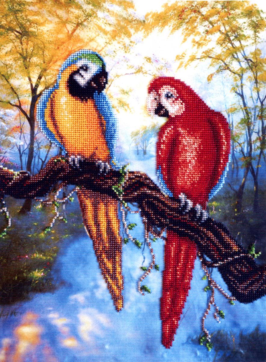 Набор для вышивания бисером Попугаи, 36 х 28 см280036