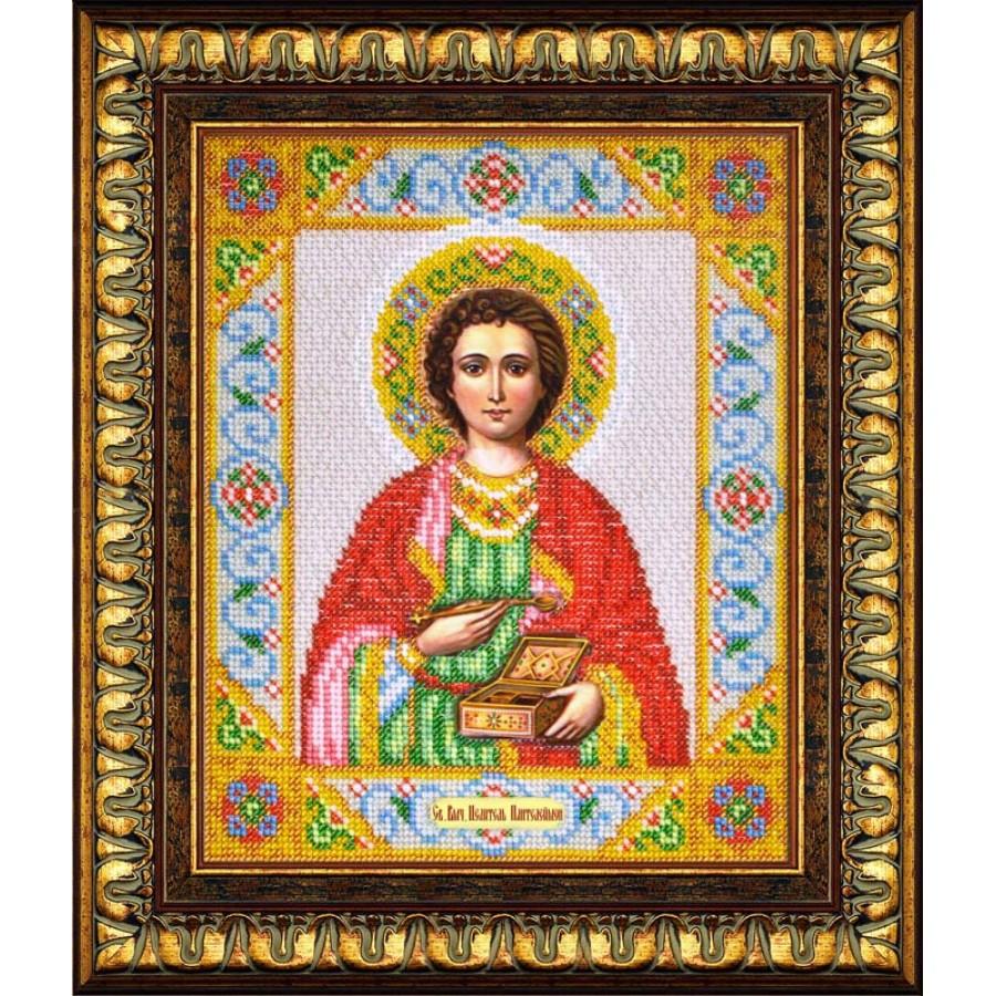 Набор для вышивания бисером Святой Целитель Пантелеймон, 20 см х 24,5 см. Б-1018280039