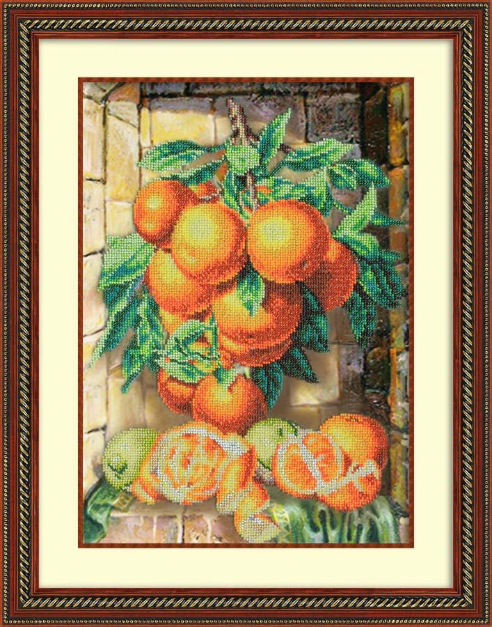 Набор для вышивания бисером Апельсиновая гроздь, 38 см х 26,5 см. 280057280057