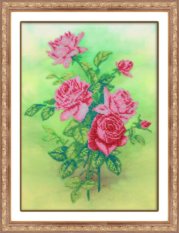 Набор для вышивания бисером Розовые розы, 31 см х 22,5 см. Б1227280059Набор для вышивания Розовые розы поможет вам создать свой личный шедевр - красивую картину на льняной ткани, вышитую бисером. Вышивание отвлечет вас от повседневных забот и превратится в увлекательное занятие! Работа, сделанная своими руками, создаст особый уют и атмосферу в доме и долгие годы будет радовать вас и ваших близких, а подарок, выполненный собственноручно, станет самым ценным для друзей и знакомых. В набор входят: - ткань (лен) с нанесенным рисунком, - бисер (Чехия): 11 цветов, - игла бисерная, - инструкция на русском языке. УВАЖАЕМЫЕ ПОКУПАТЕЛИ! Обращаем ваше внимание на то, что рамка в комплект не входит, а служит для визуального восприятия товара.