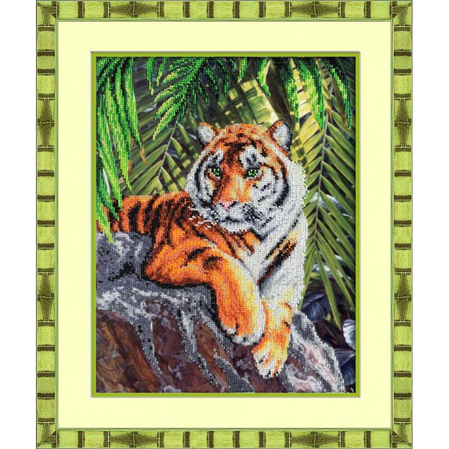 Набор для вышивания бисером Тигр, 37 см х 27,5 см280061