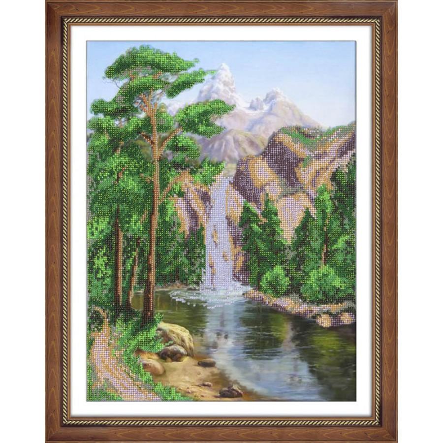 Набор для вышивания бисером Водопад, 28 см х 38 см. 280067280067