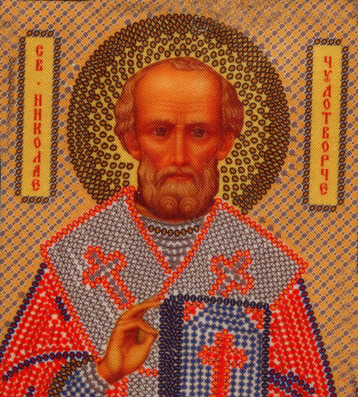 Набор для вышивания бисером Святой Николай Чудотворец, 13 см х 17 см354294