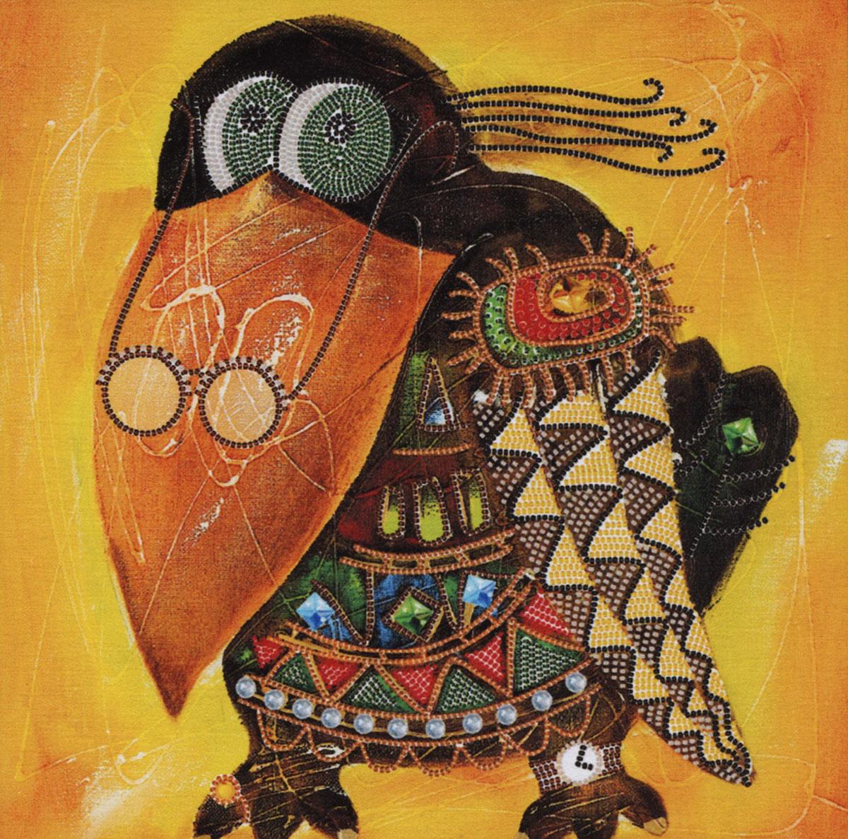 Набор для вышивания бисером Кар Клуша, 30 х 30 см НК2181354307