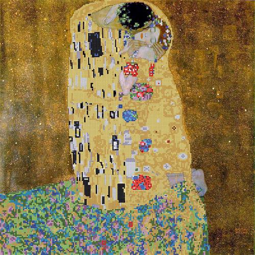 Набор для вышивания бисером Gluriya Поцелуй, 40 х 40 см385036