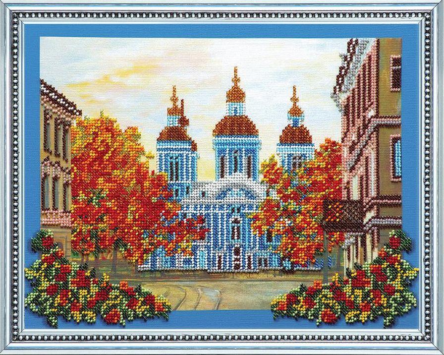 Набор для вышивания бисером Никольский собор, 32,5 см х 25 см. АВ-071556059Набор для вышивания бисером Никольский собор поможет вам создать свой собственный шедевр - красивую вышитую картину. Основа создаваемой картины - натуральный художественный холст аналогичный тому, на котором пишут картины художники. Благодаря ему все элементы, которые творил художник, создавая картину, по мотивам которой разработана схема для вышивки, передаются с максимальной точностью. Сама структура холста делает напечатанную на нем картину отличной репродукцией. Краски, которые используются для нанесения изображения, экосольвентные, а значит, вы можете смело стирать готовое изделие, удаляя с его поверхности загрязнения, а так же покрывать его лаком как при помощи аэрозолей, так и при помощи обычной кисточки! Кроме того со временем краски не потускнеют, не потрескаются - даже при попадании прямых солнечных лучей или влаги, им не страшны перепады температур и прочие неприятности. Благодаря особо прочной структуре холста картина никогда не деформируется под тяжестью бисера. ...